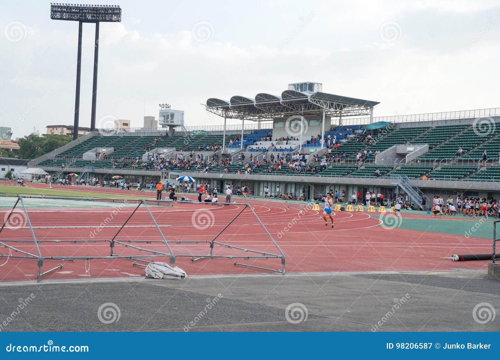 Athletes Competing At Yanmar Field, Nagai, Athletics Track