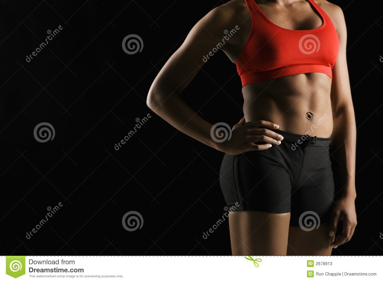 Athletic female body. stock image. Image of indoors, color ...