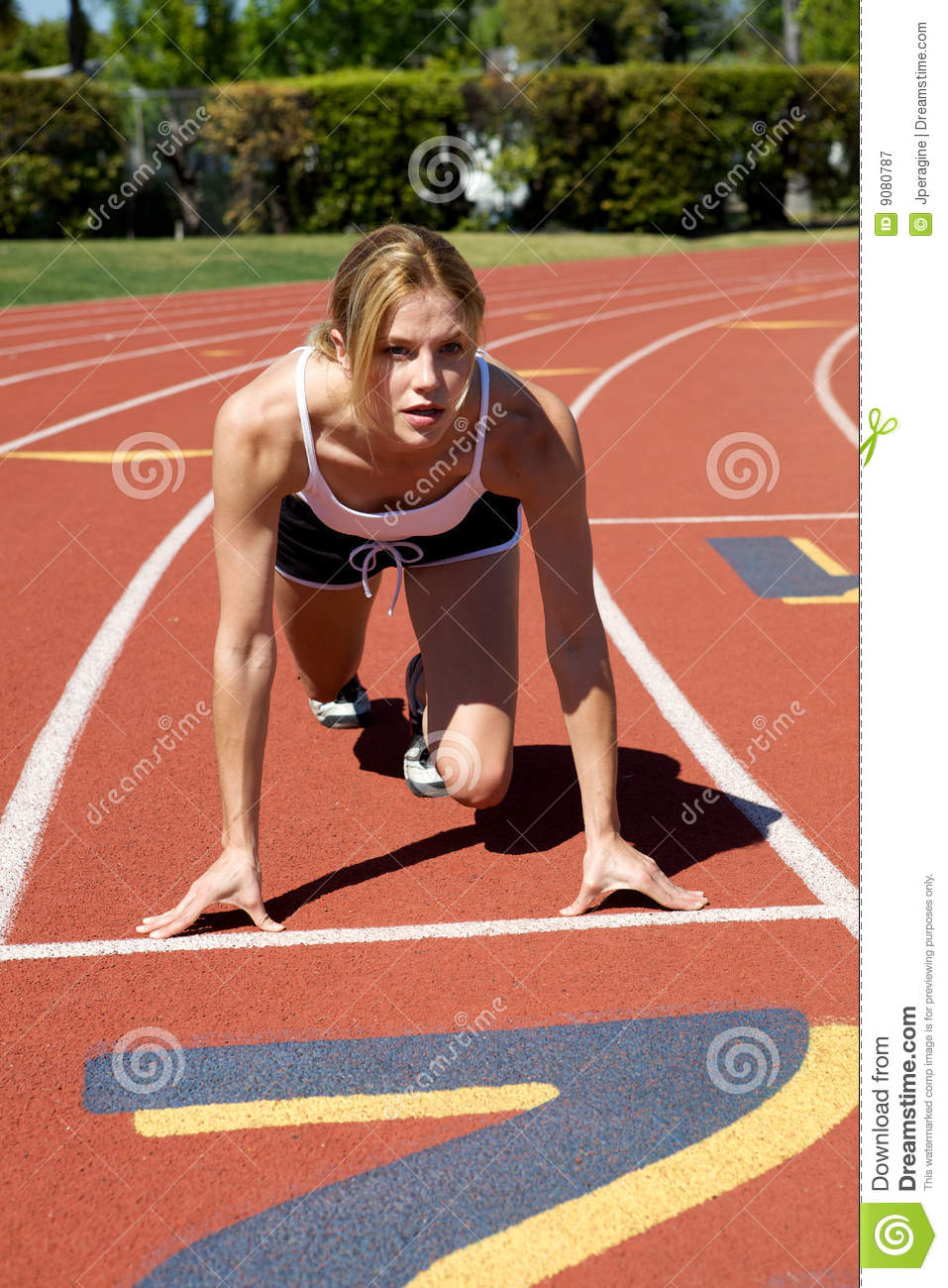 Athletic Girl Running Royalty Free Stock Photography