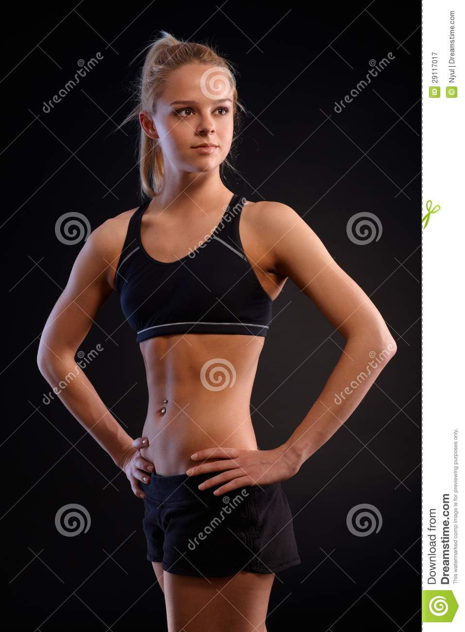 young athletic girl