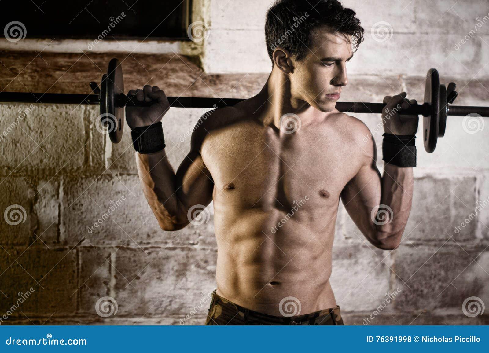 Athletic Man Exercising