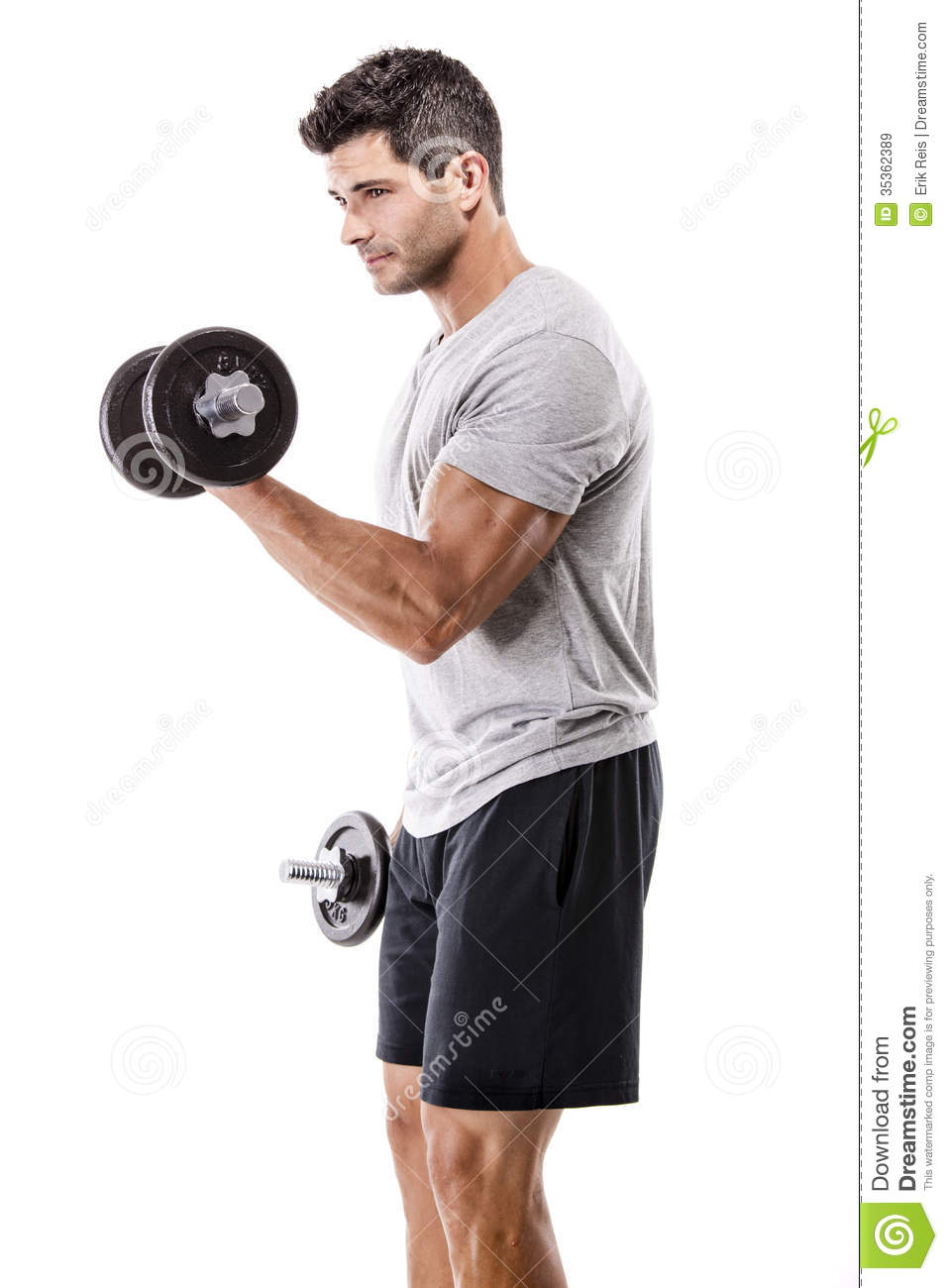 Athletic Man Lifting Weights Royalty Free Stock Images ...