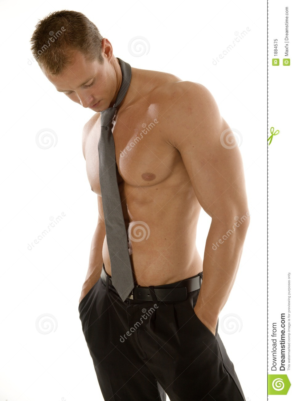 Athletic muscular male stock image. Image of building