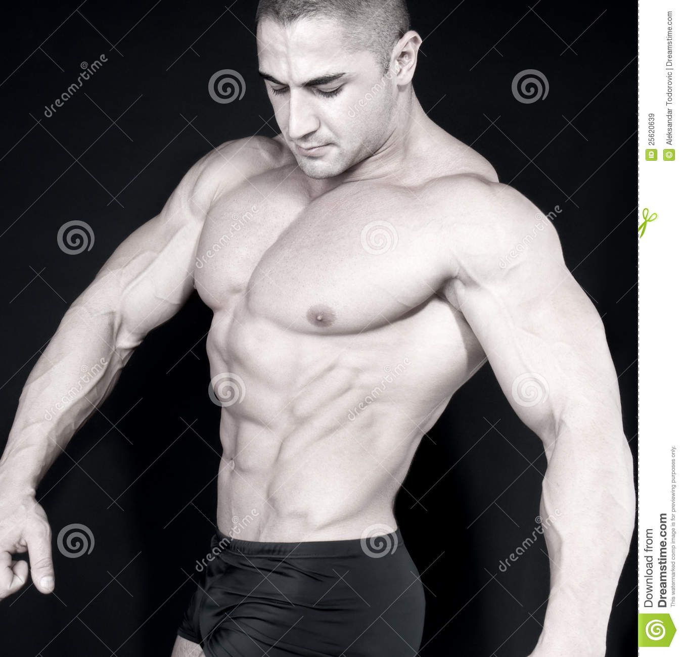Athletic attractive male body builder