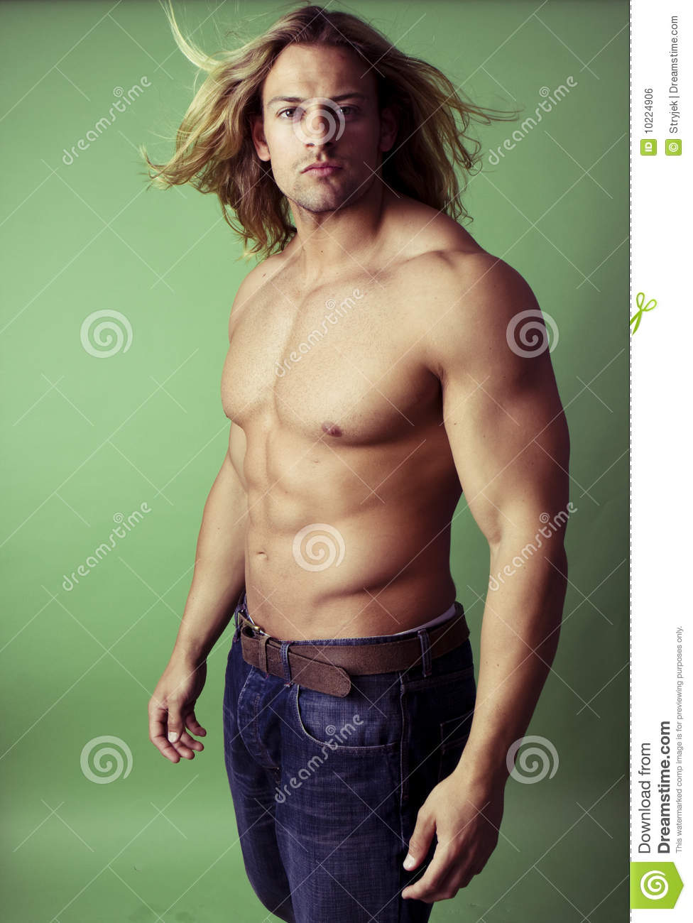 Athletic male body builder