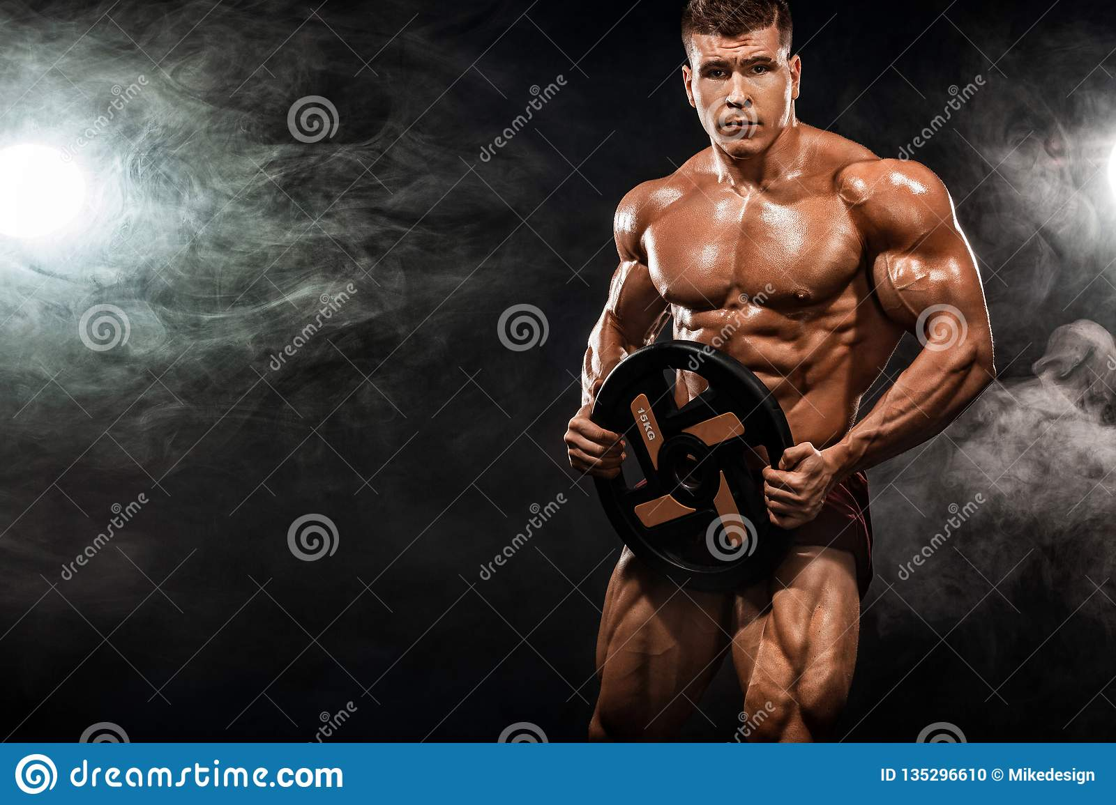 Strong Muscular Athletic Man Stock Photo - Image of
