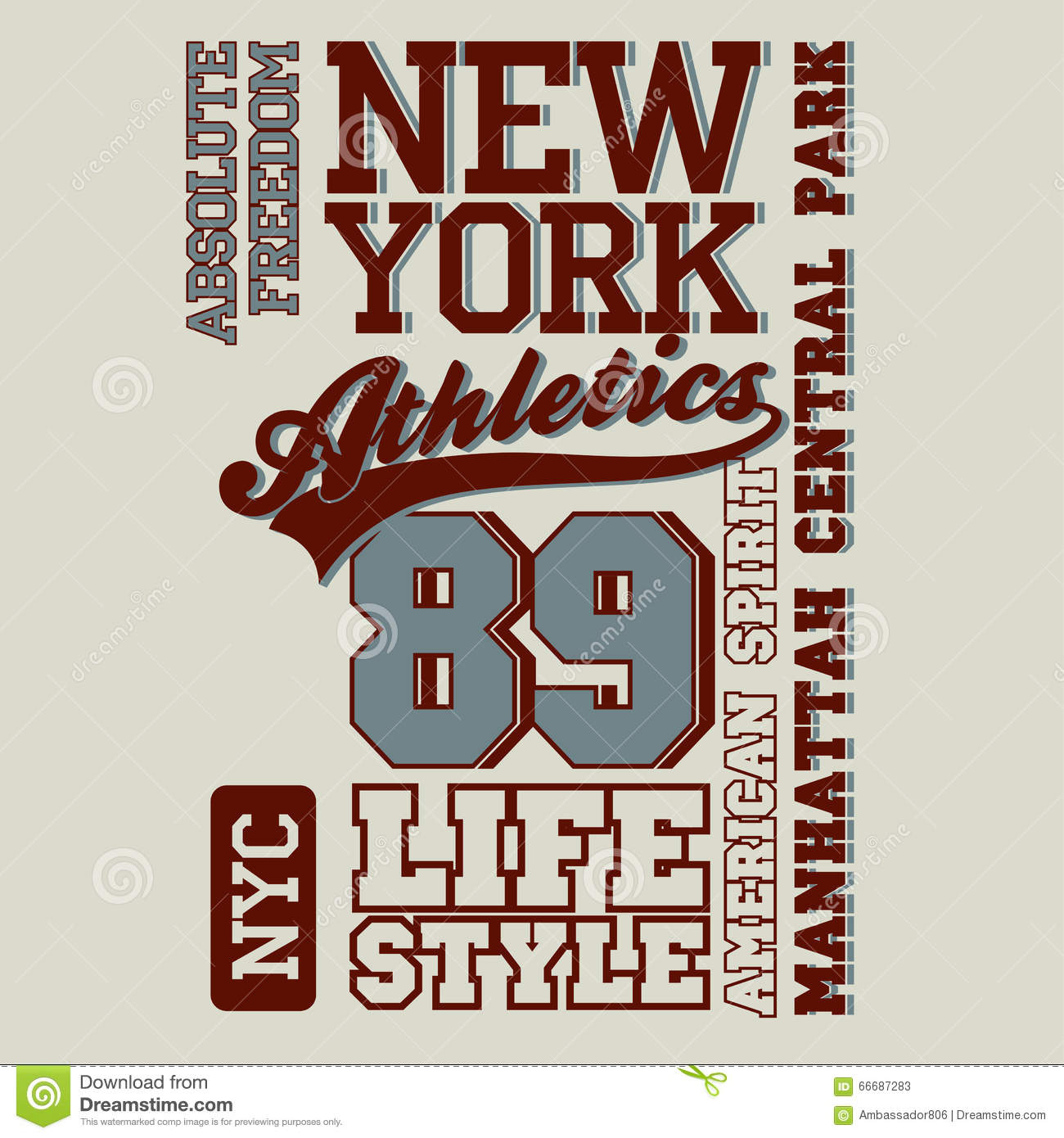 fbc1a5563a Athletic Sport T-shirt Graphics Stock Vector - Illustration of ...