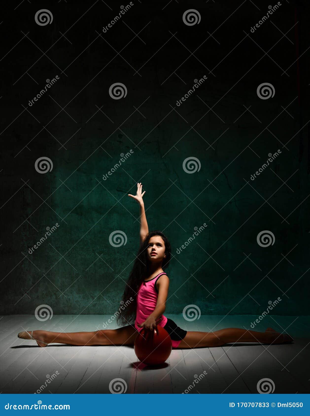 Rhythmic gymnastics stock image. Image of jumping, gymnist