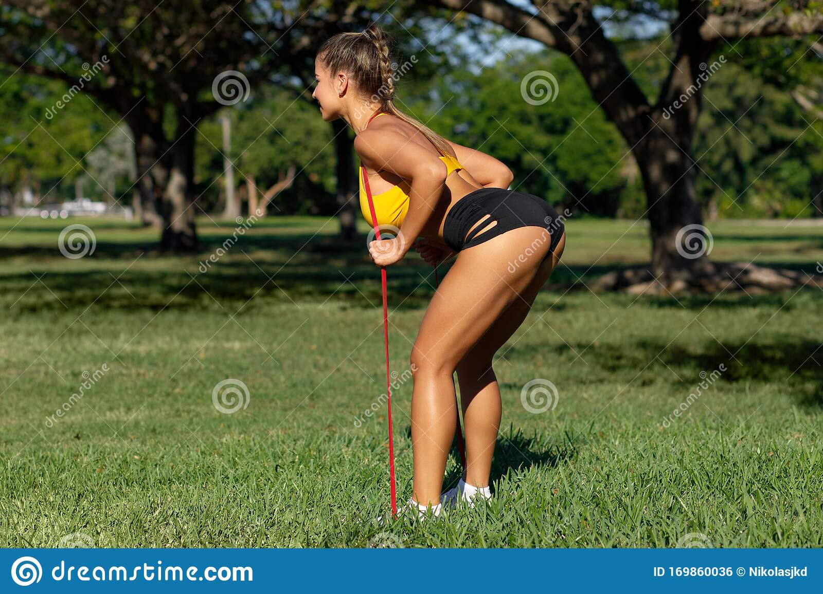 430 Fitness Girl Legs Butt Photos Free Royalty Free Stock Photos From Dreamstime Be sure to let us know if you'd like to see more by ashton! https www dreamstime com athletic woman doing exercise glutes legs outdoors fitness girl workout resistance band park image169860036