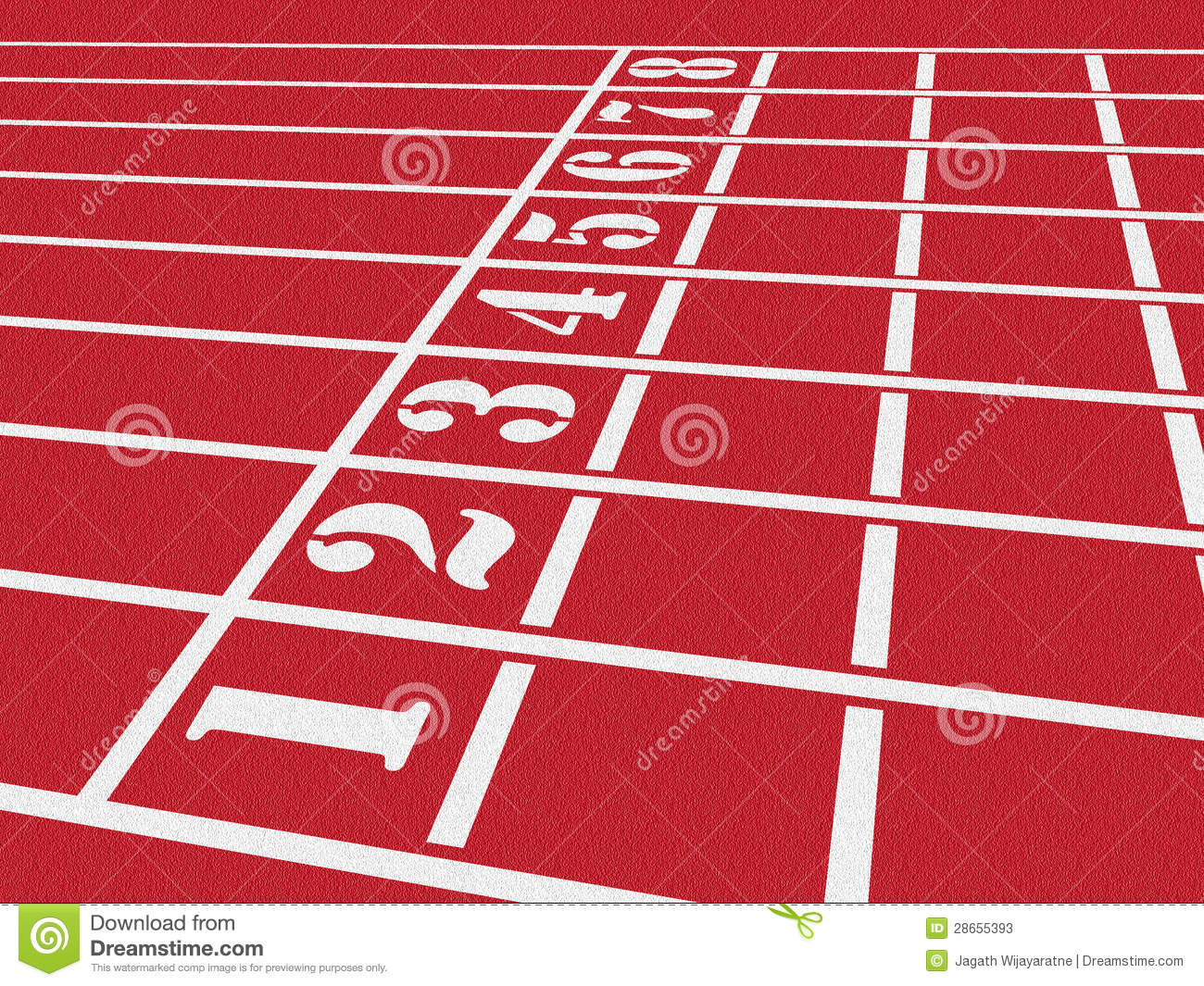 Athletics Track Stock Photos - Image: 28655393