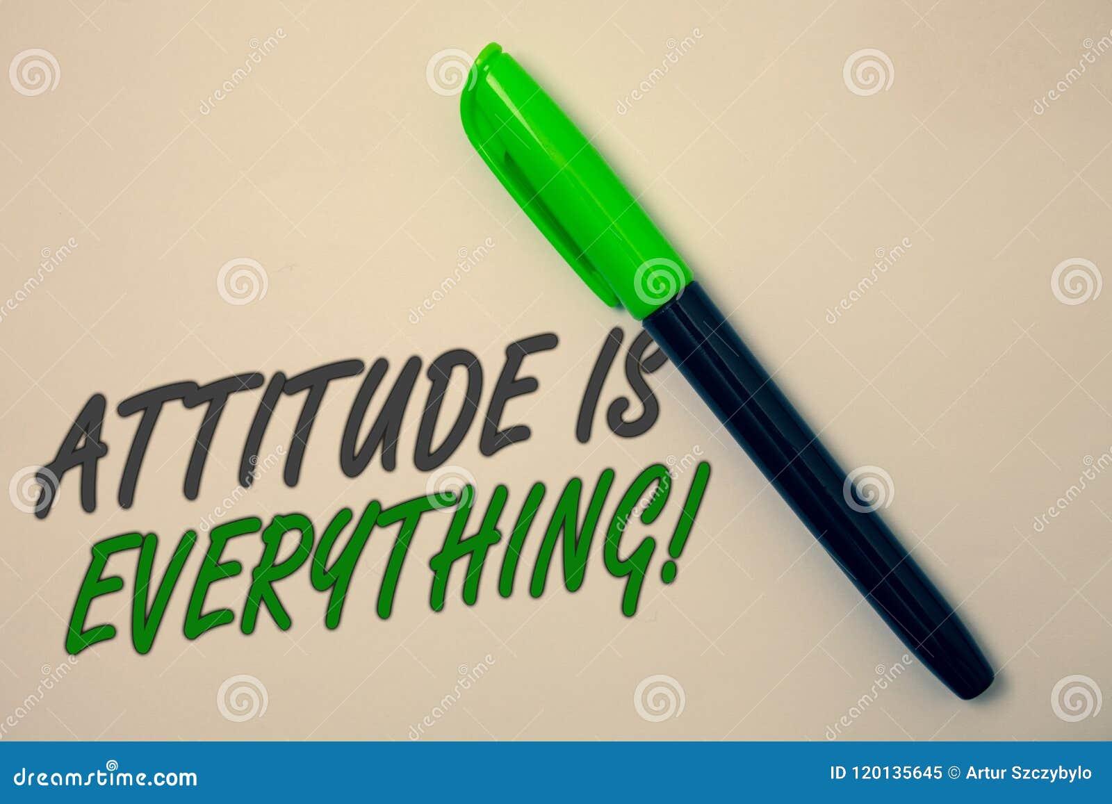A atitude da escrita do texto da escrita é tudo Conceito que significa a mensagem pessoal b das ideias do comportamento da orient