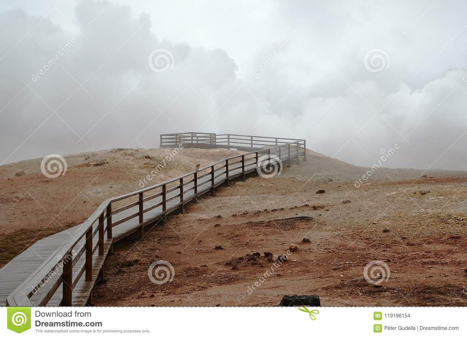 Atividade geotérmica em Islândia