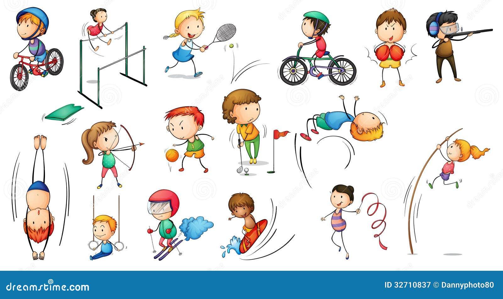 Atividades diferentes dos esportes