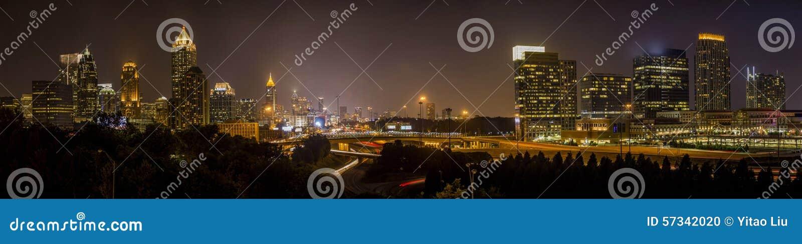 Atlanta Downtown night Skyline