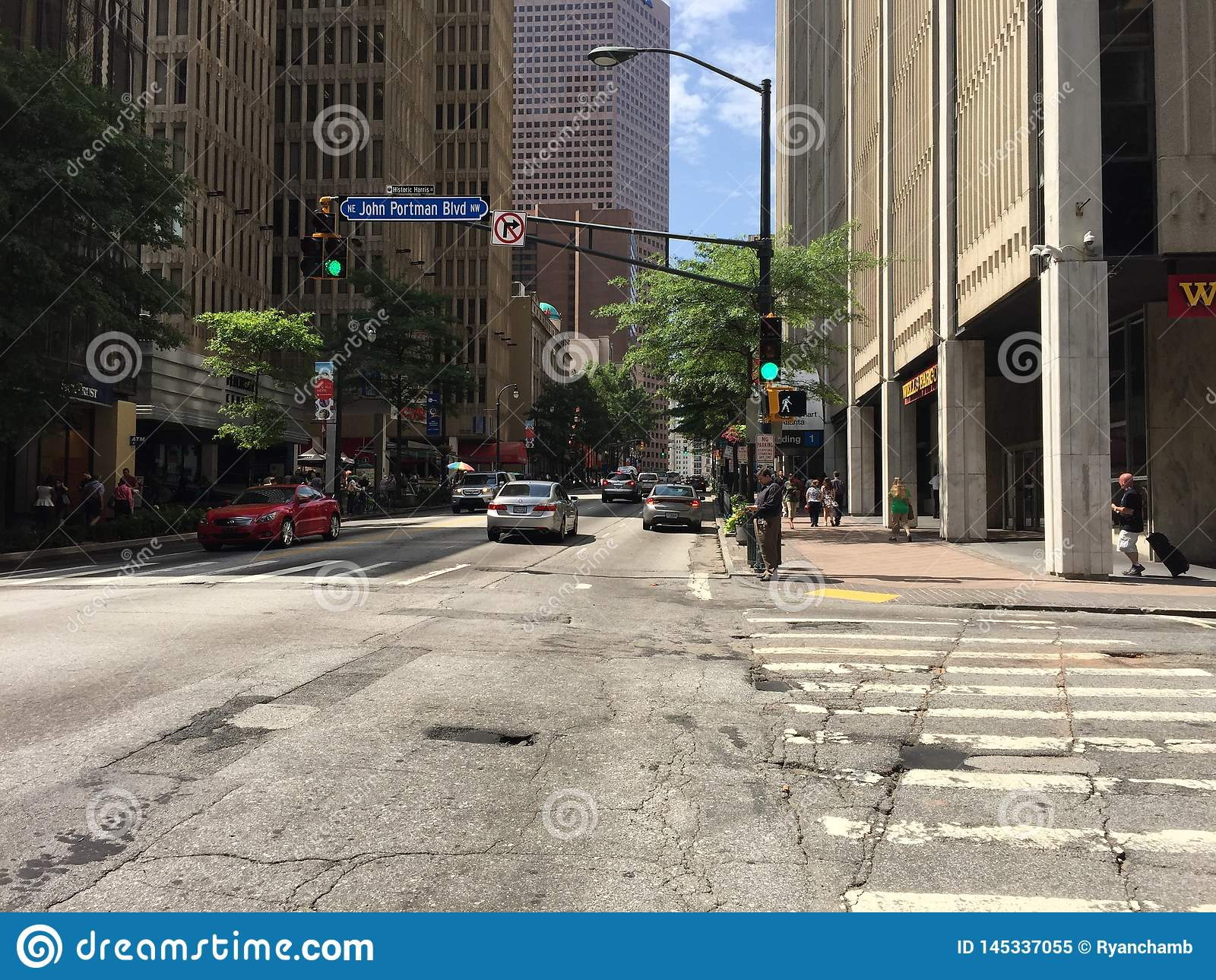 Atlanta Georgia miasta lata atl w centrum uliczny śródmieście