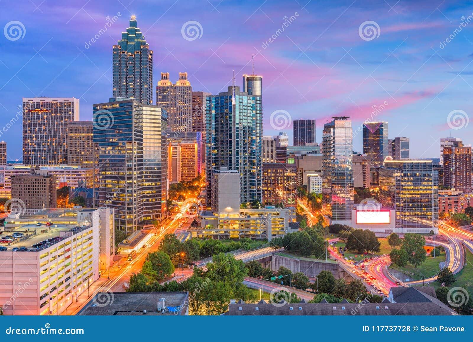 Atlanta, Georgia, orizzonte di U.S.A.