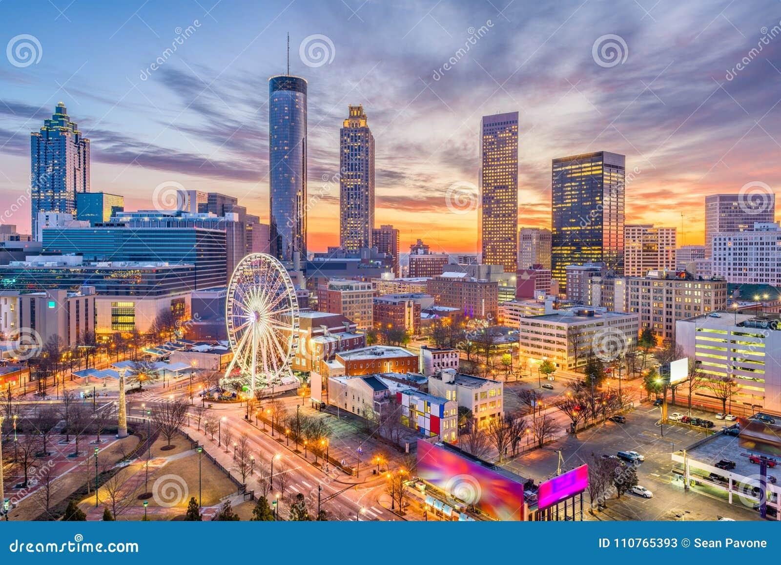 Download Atlanta, Georgia, USA stock image. Image of ferris, cityscape - 110765393