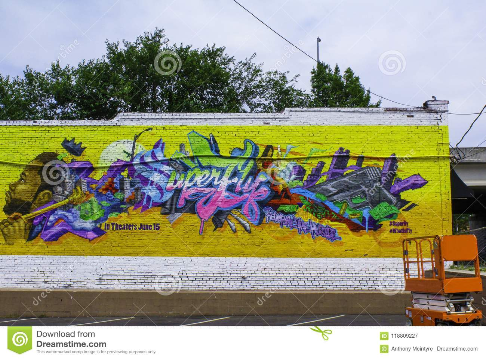 Atlanta, Georgia/Vereinigte Staaten - 5. Juni 2018: Malerei von