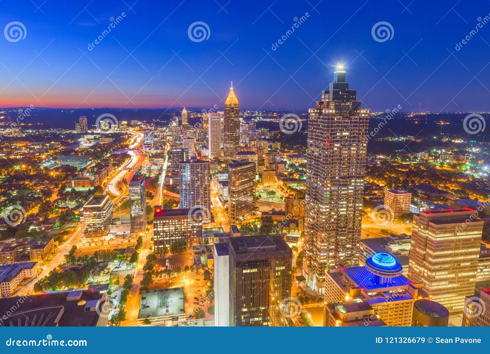 Atlanta, Gruzja, usa linia horyzontu