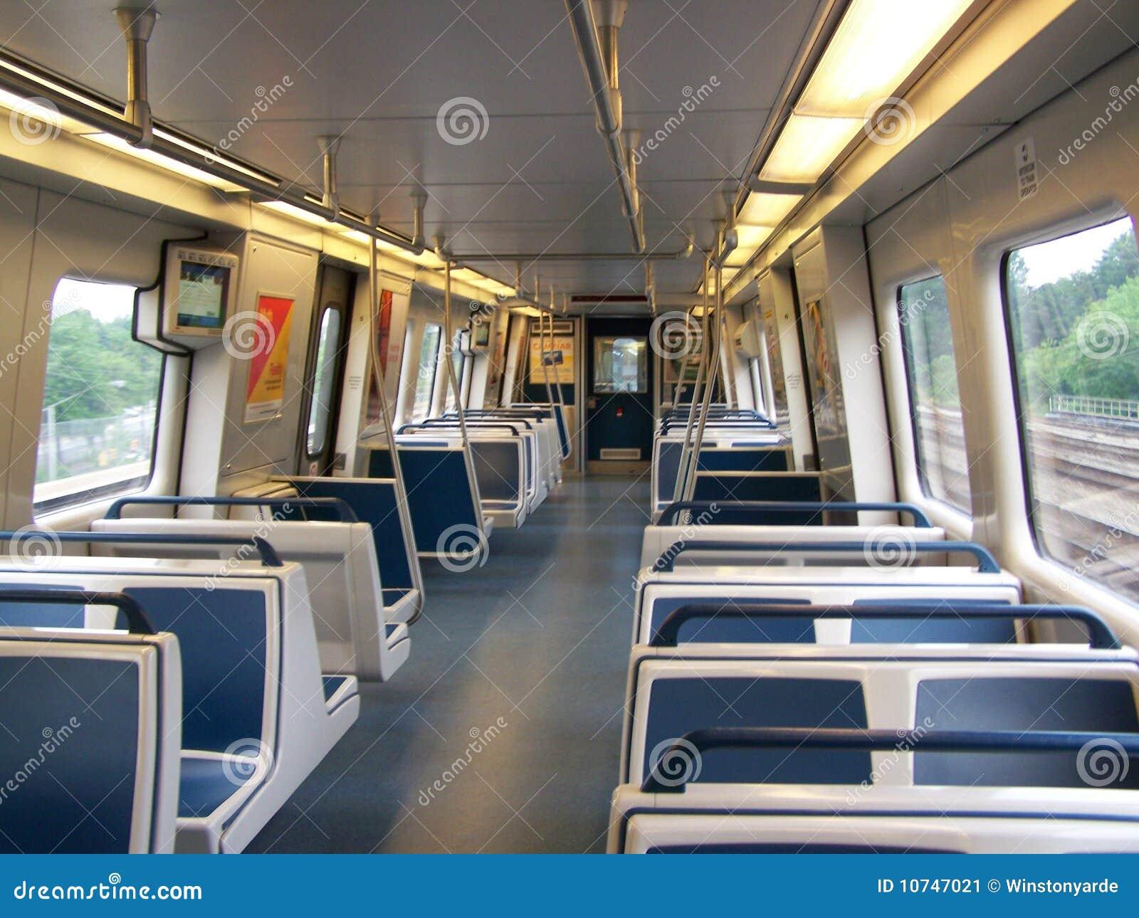 atlanta marta new train interior stock image image 10747021. Black Bedroom Furniture Sets. Home Design Ideas