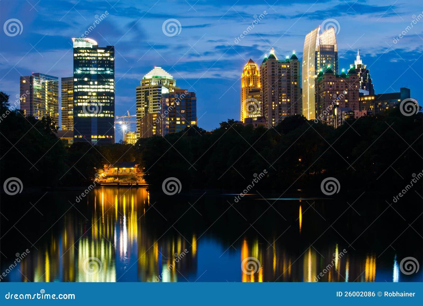 Download Atlanta midtown skyline stock photo. Image of nature - 26002086