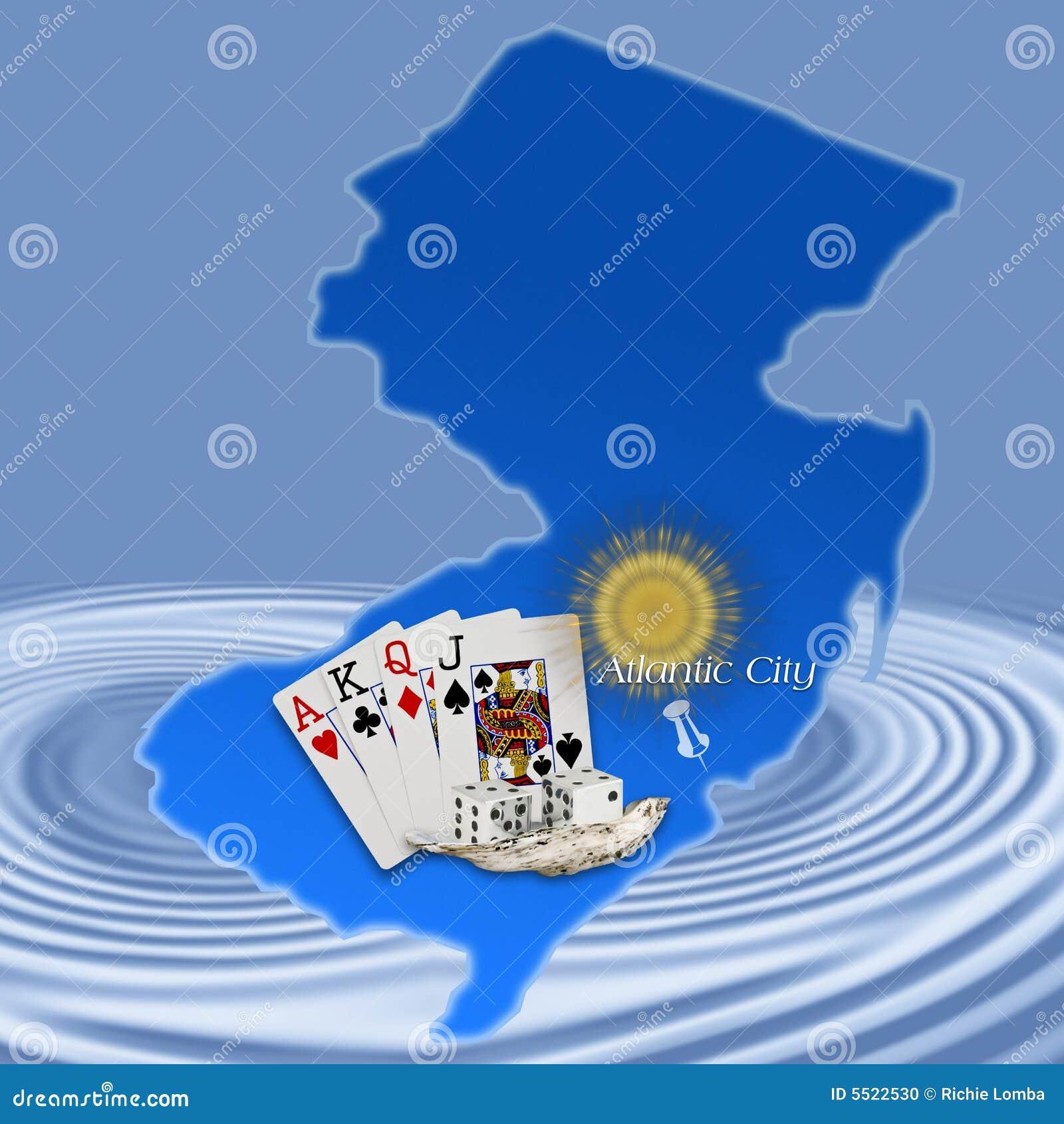 Atlantic city z jersey nową mapę