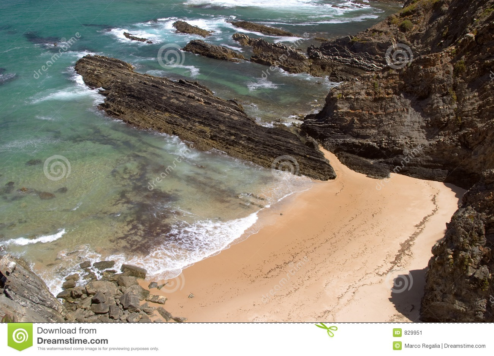 Atlantic ocean beach at Sardao cape (Cabo Sardao)