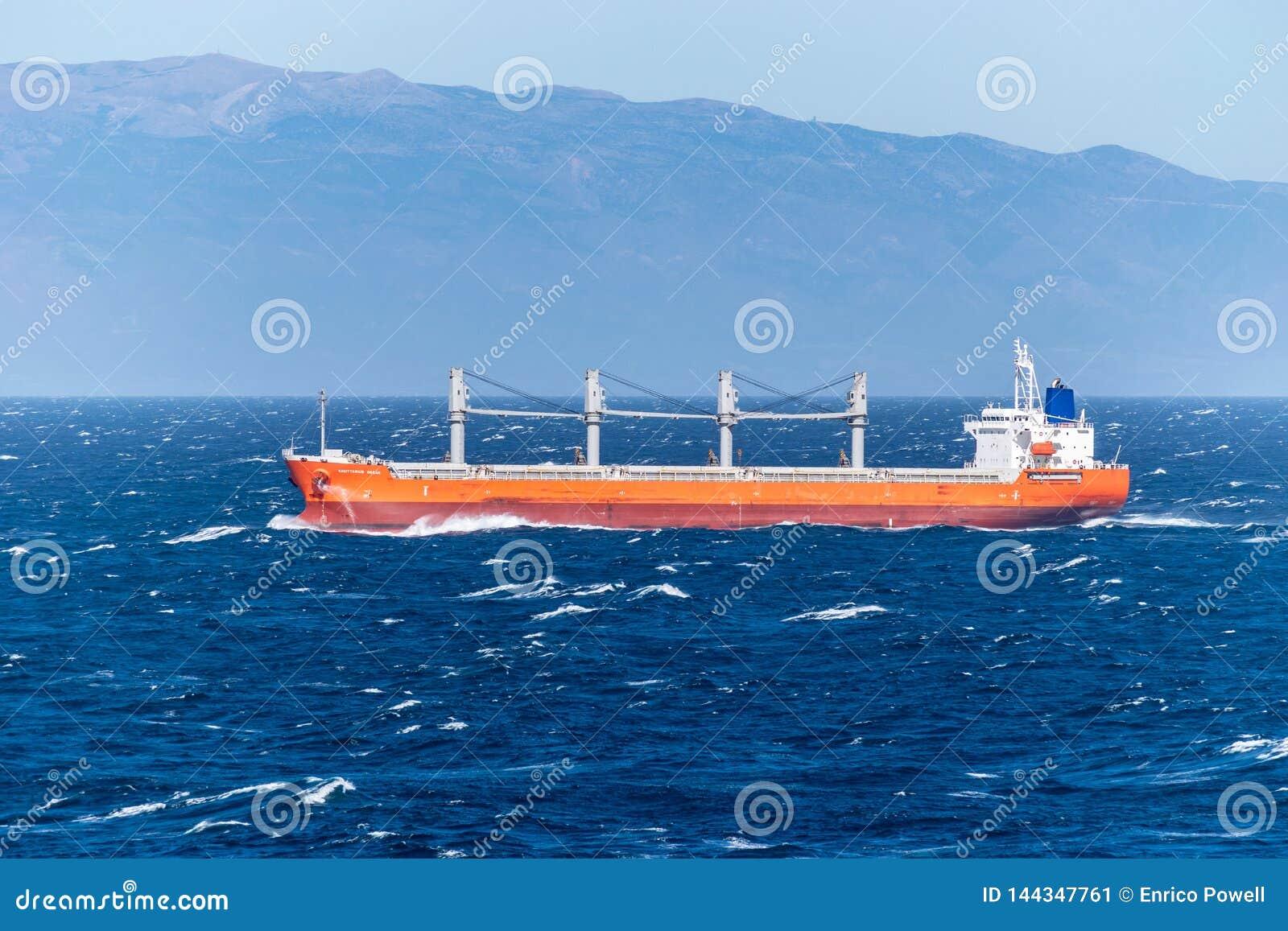 Sagittarius Ocean, a Cargo Bulk Carrier, sailing across the Atlantic Ocean