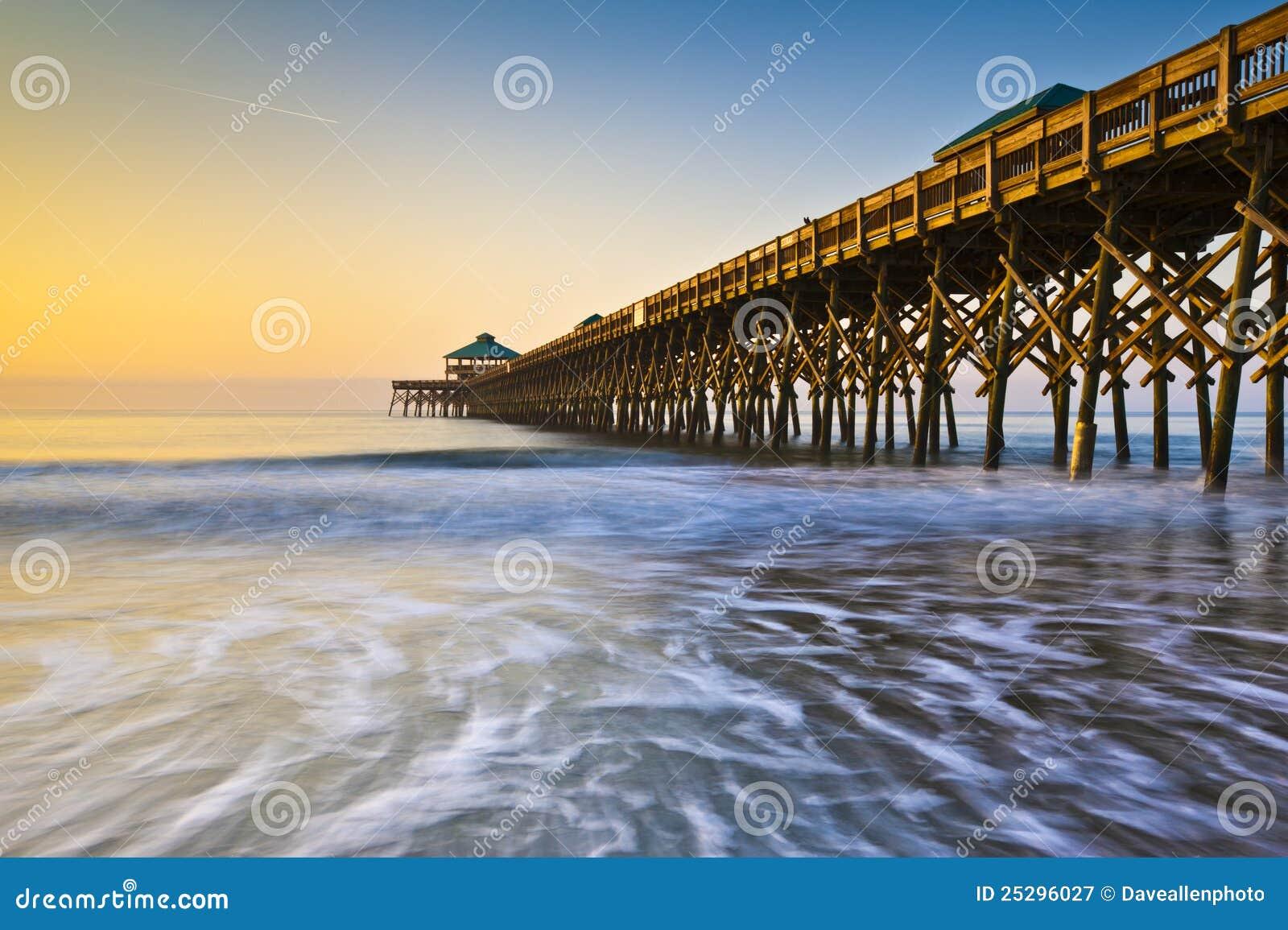 Atlantic plażowy Charleston brzegowy głupoty mola sc
