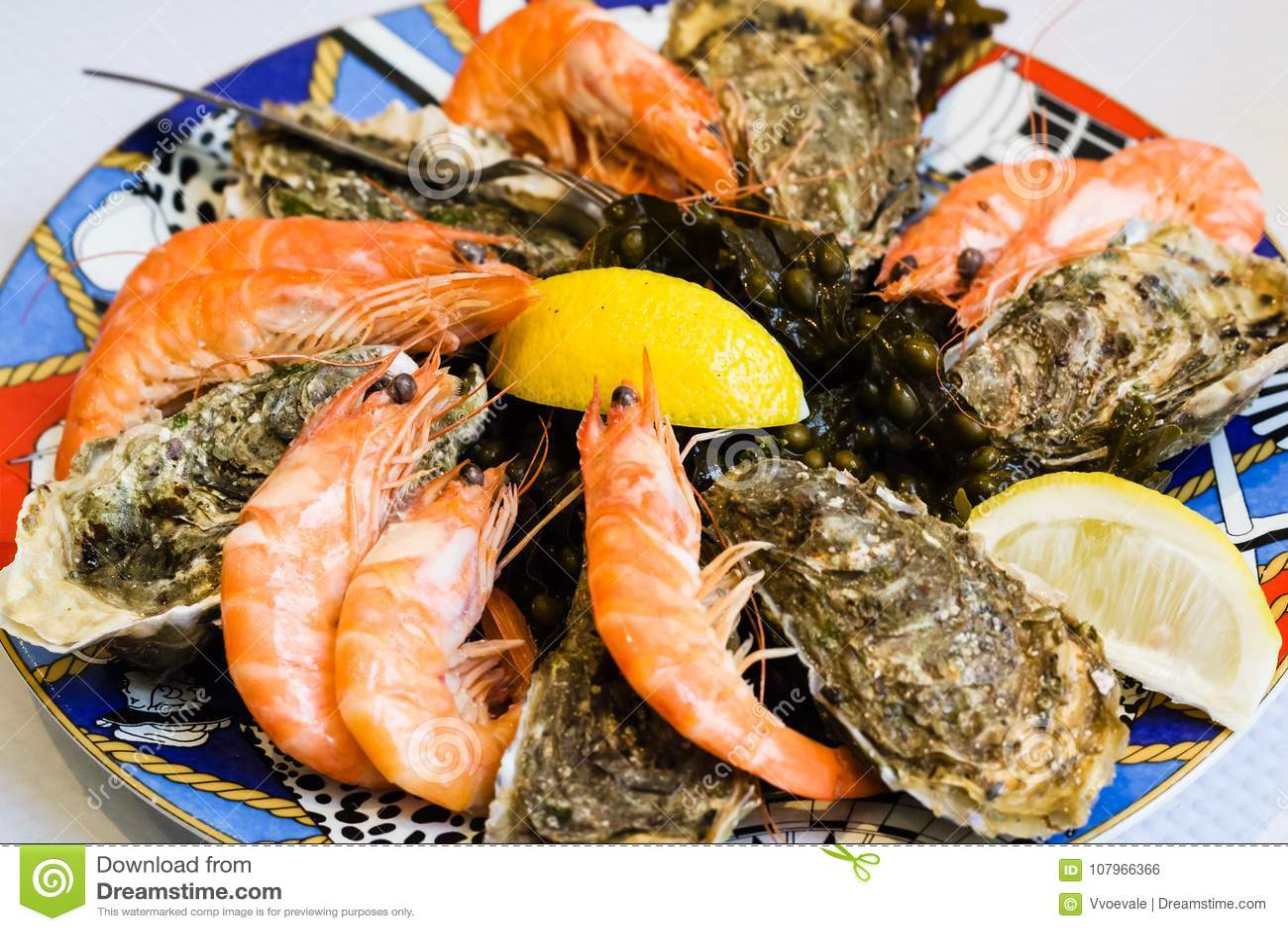 Atlantic Seafood Plate In Local Fish ...