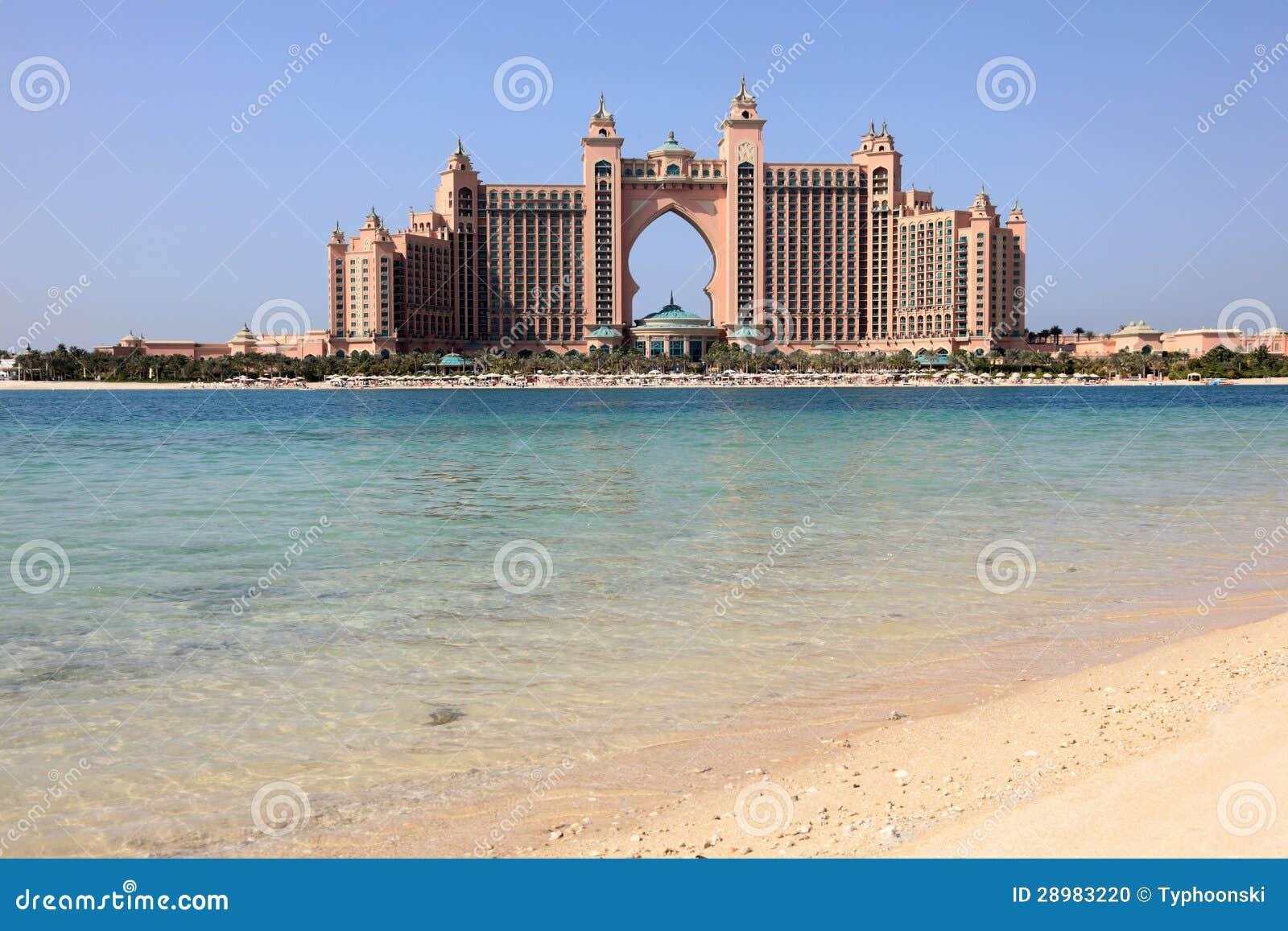 Atlantis o hotel da palma em dubai foto de stock imagem for Hotel em dubai