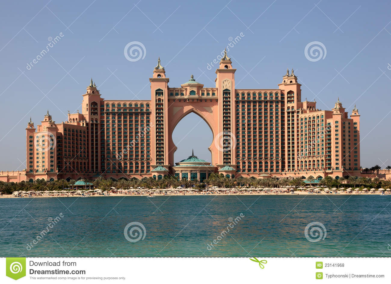 Atlantis The Palm Hotel In Dubai Stock Photo Image Of Jumeirah