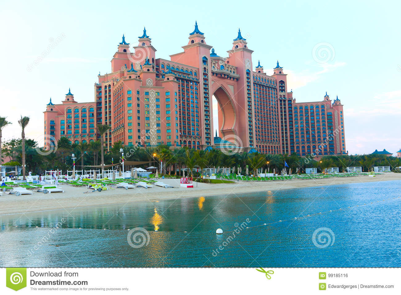Atlantis The Palm Hotel Dubai Editorial Photo Image Of Jumeirah Arab 99185116