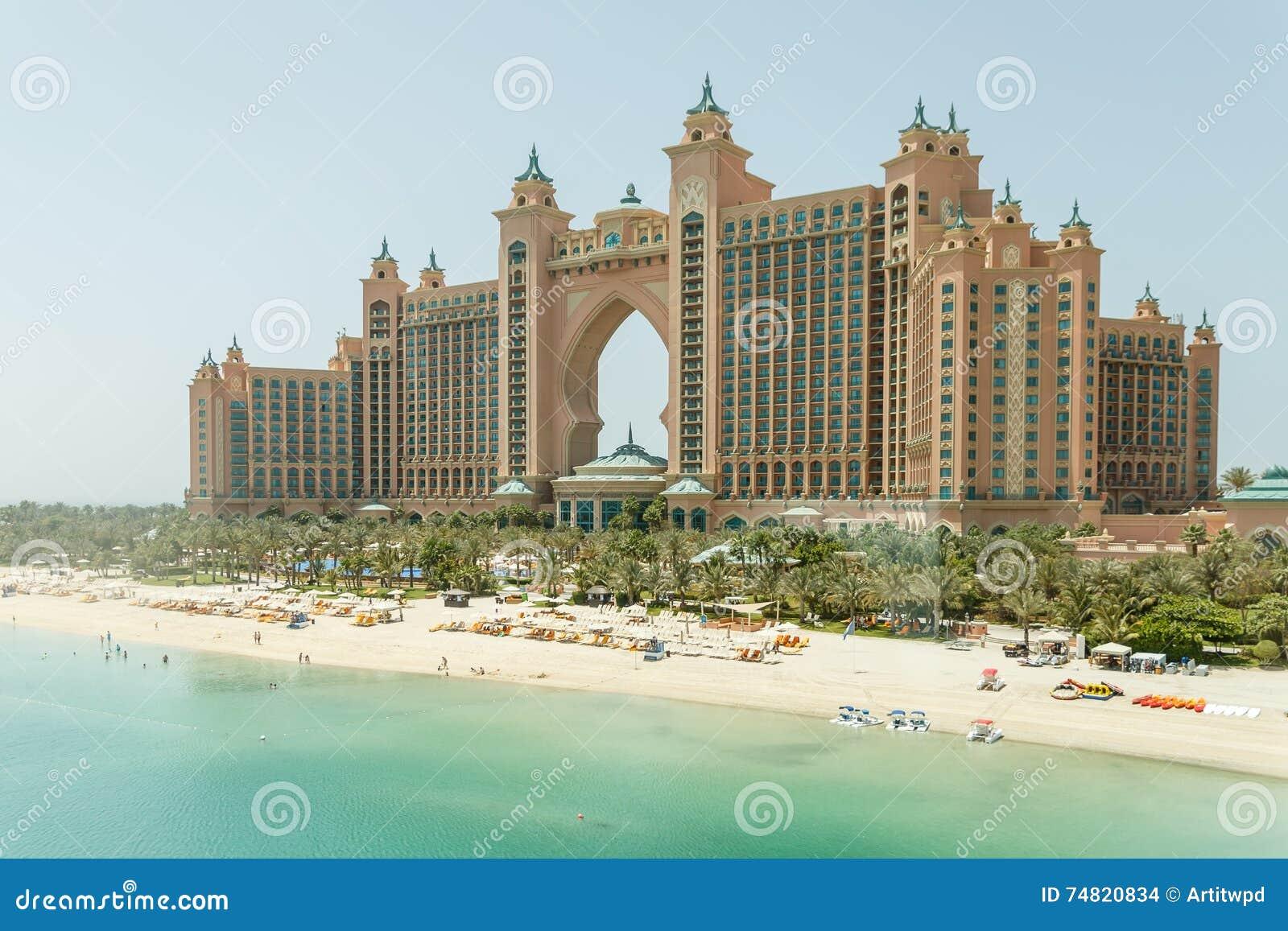 Atlantis the palm hotel the view from monorail dubai for Dubai palm hotel dubai