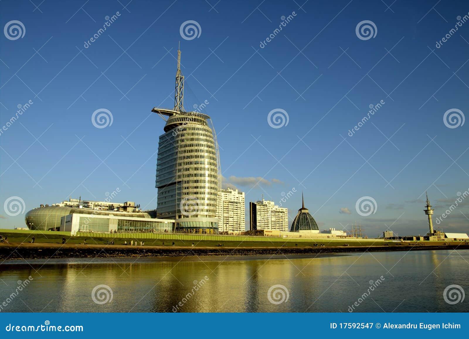Atlantische hotel segel stadt bremerhaven lizenzfreie for Design hotel bremerhaven