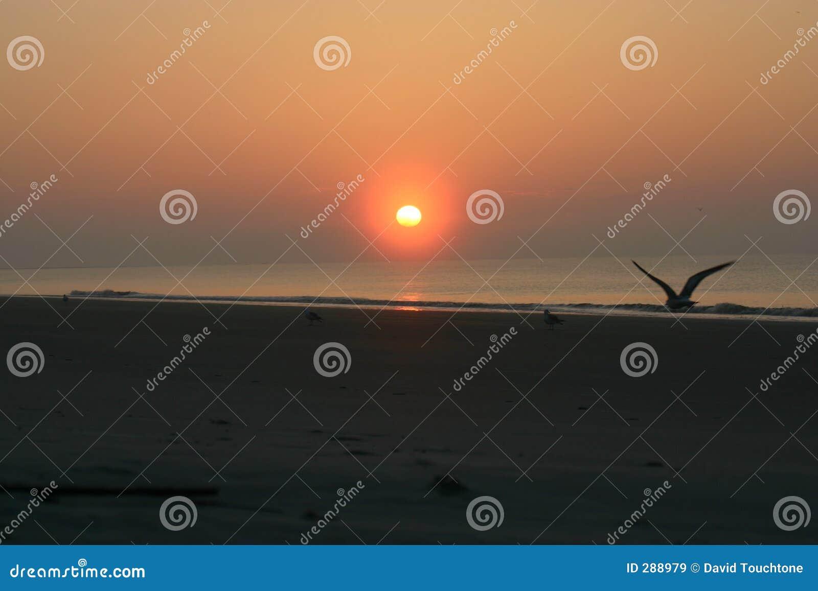 Atlantische zonsopgang