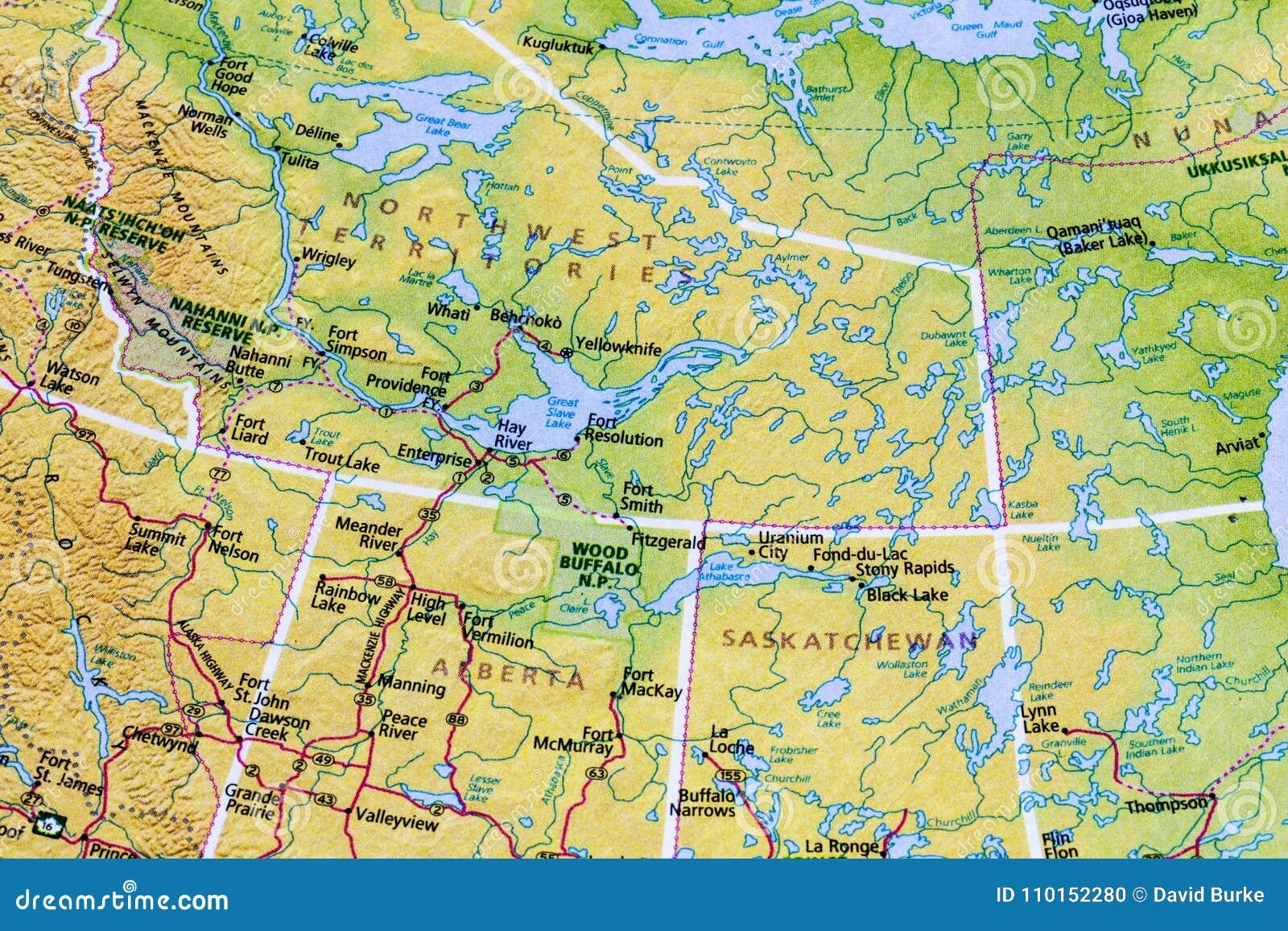 Atlas Del Mapa De Canada Del Canadiense Foto De Archivo Imagen