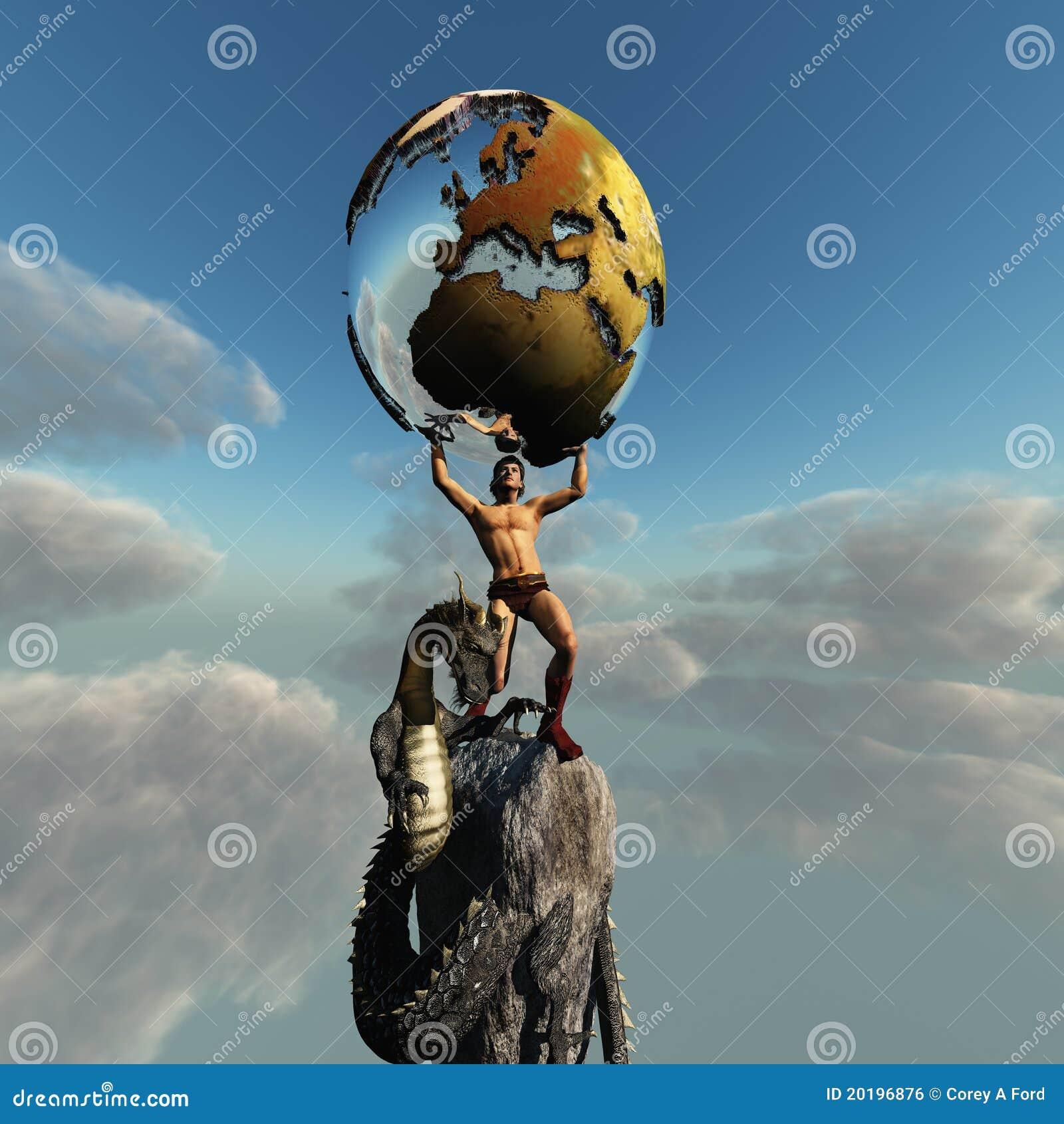 atlas greek god royalty free stock image image 20196876