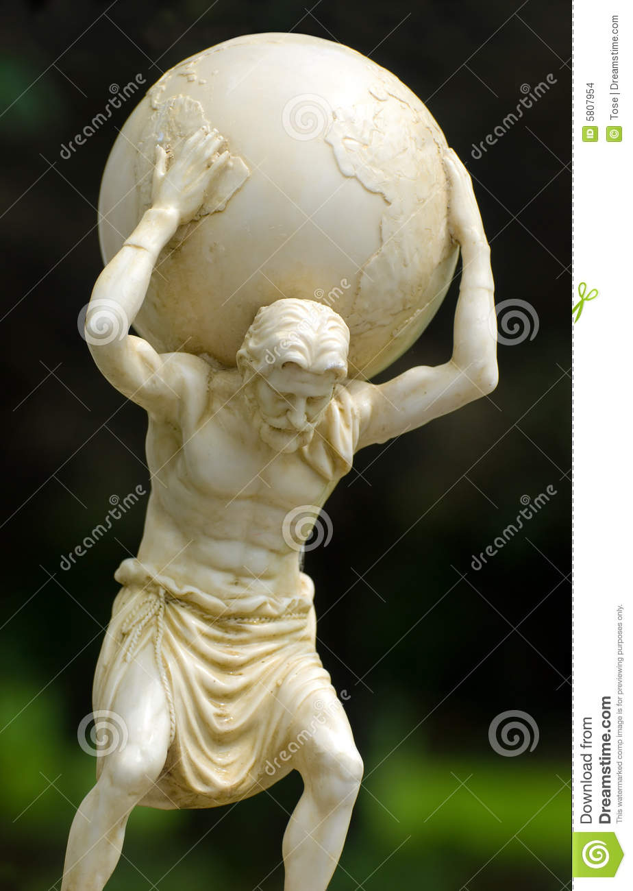 Atlas Holding The World On His Shoulders Stock Images - Image: 5807954