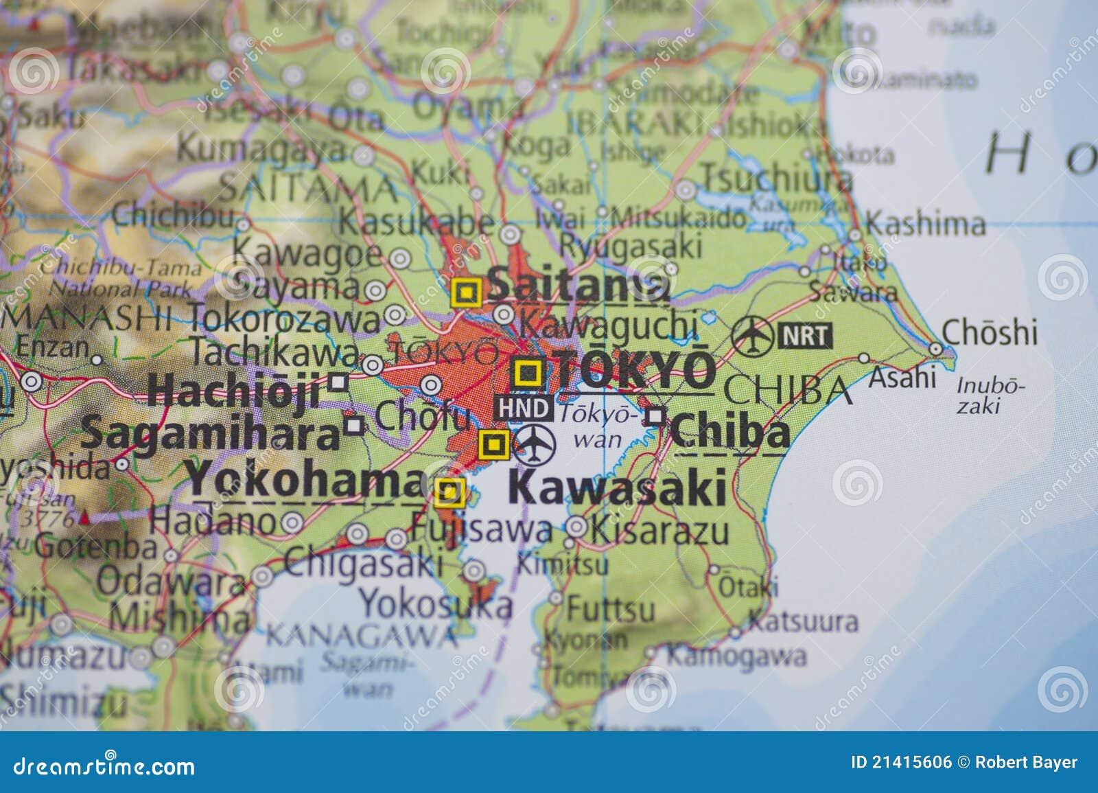 Atlas Map Tokyo Royalty Free Stock Image Image - Japan map yokohama tokyo