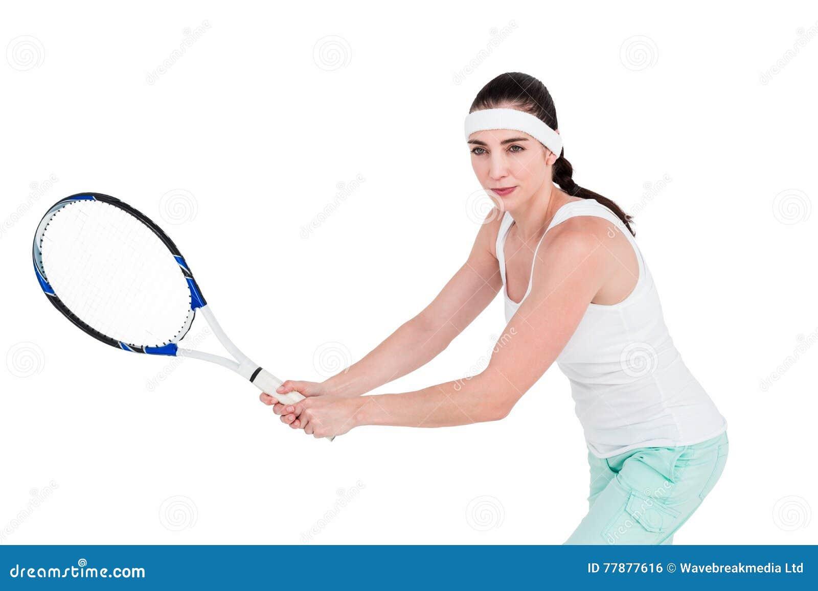 Atleta De Sexo Femenino Que Juega A Tenis Foto de archivo