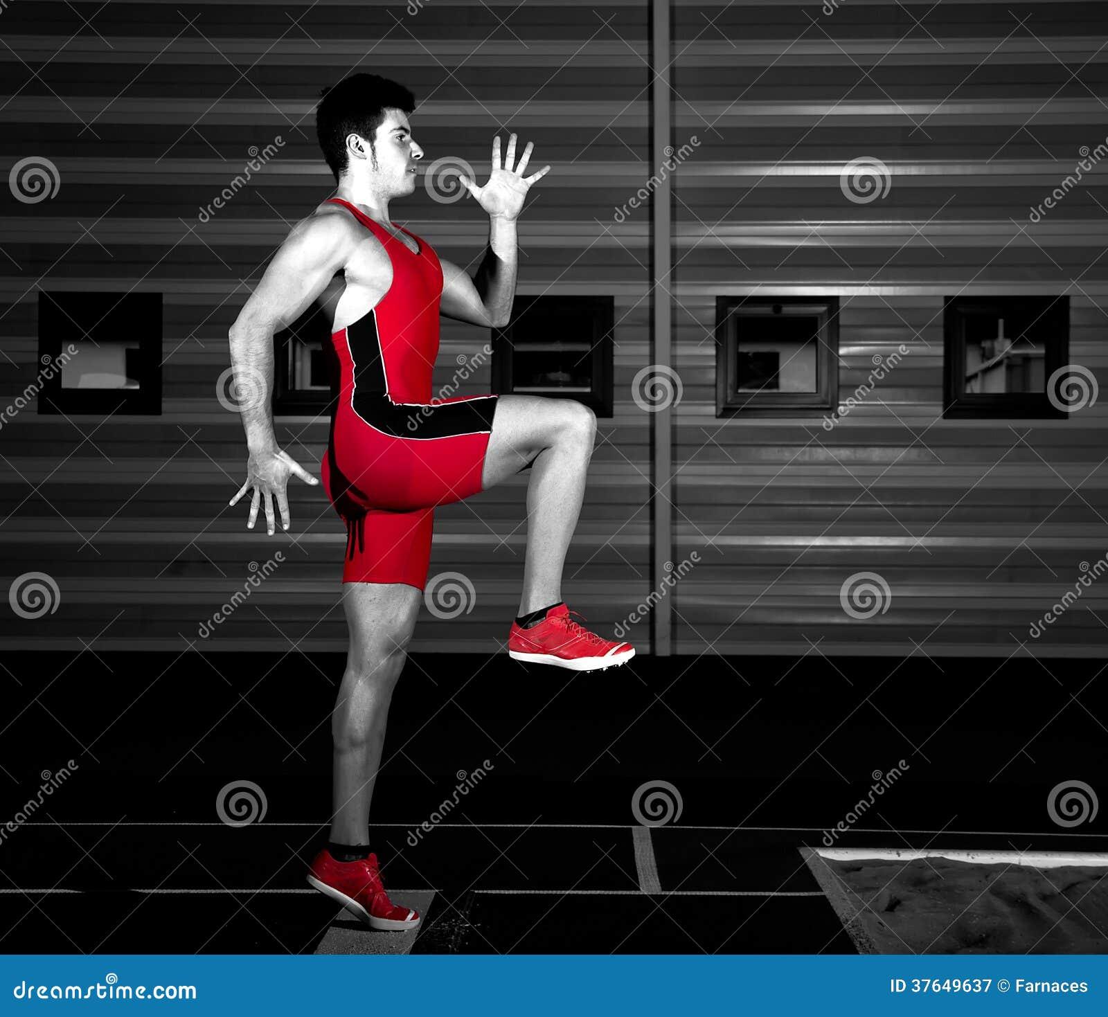 Atleta do salto longo
