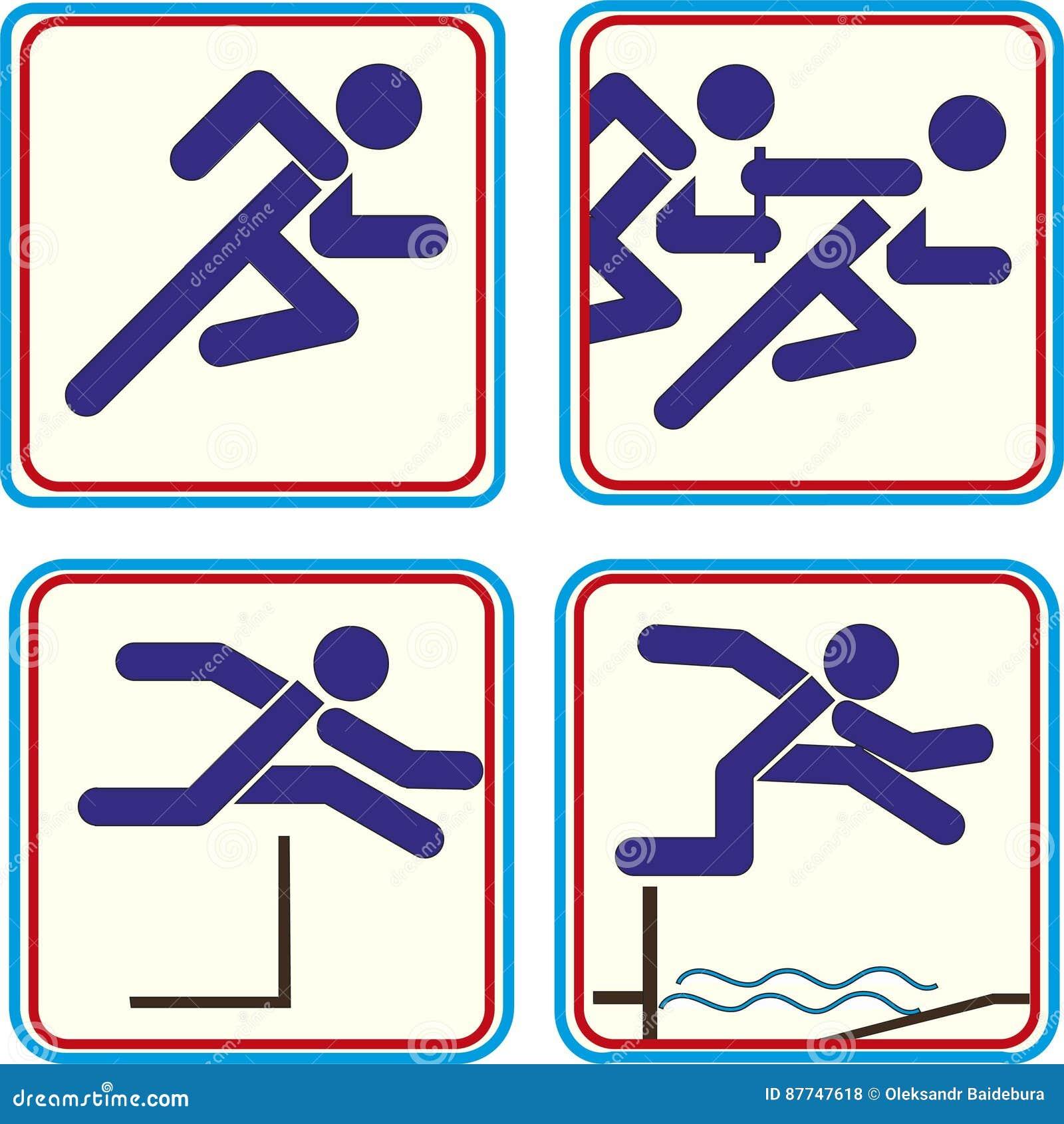 Atleta Pictogram Icon Track - campo del deporte