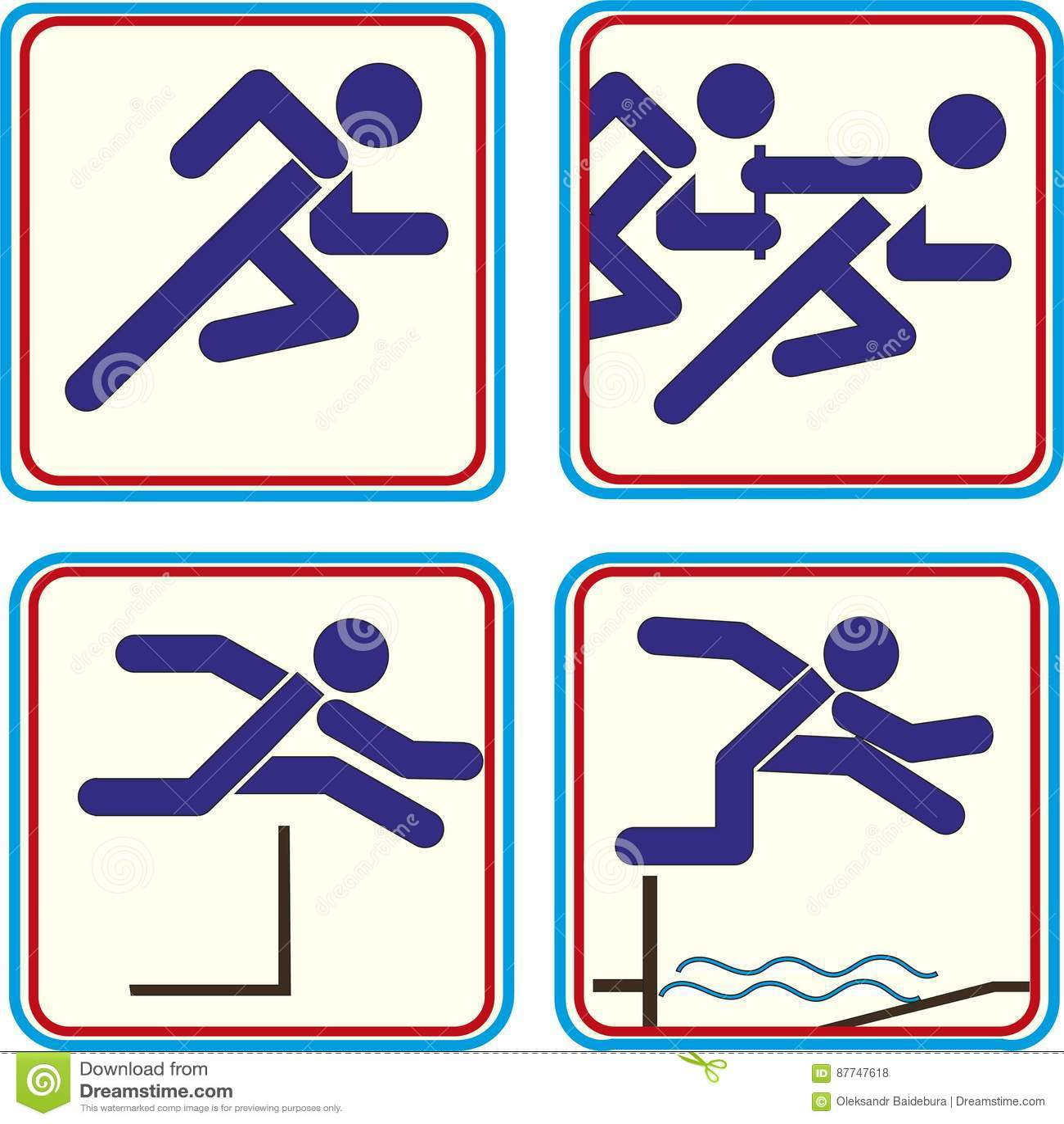 Atleta Pictogram Icon Track do esporte - campo