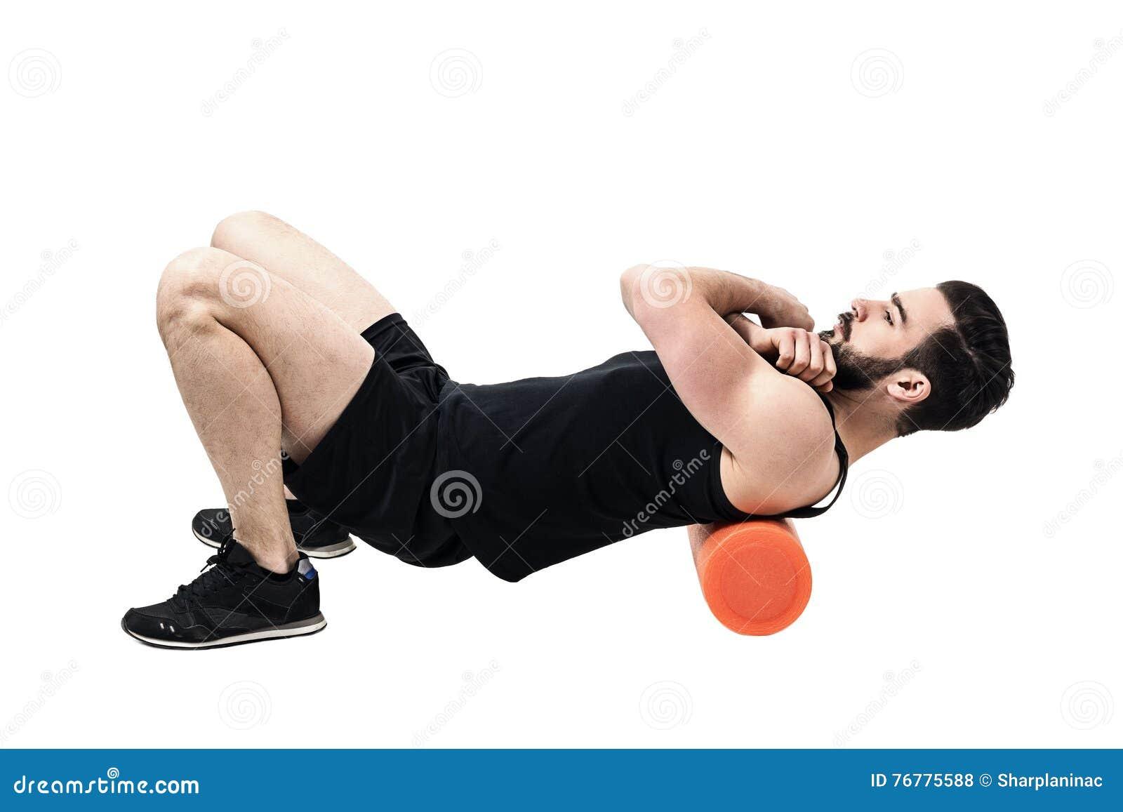 Atleta Que Da Masajes A Los Músculos De Parte Superior De La Espalda ...