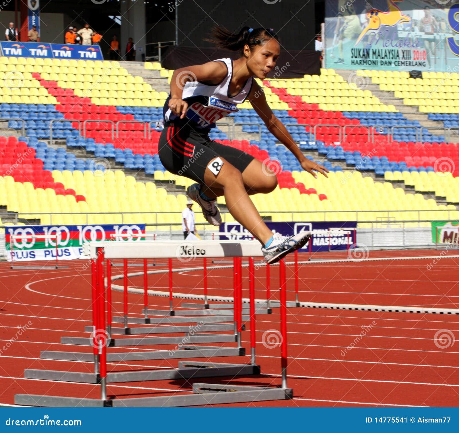 Atletas del salto de la cerca