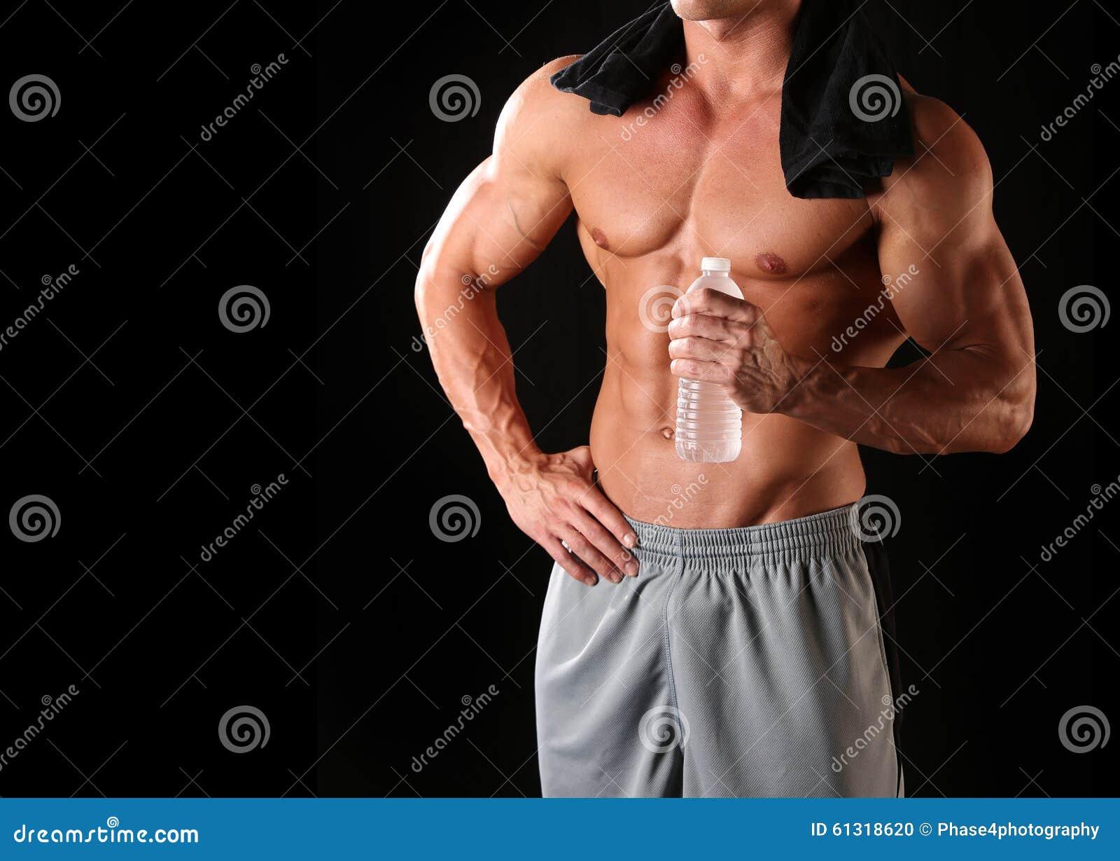 Atletisch mannelijk lichaam