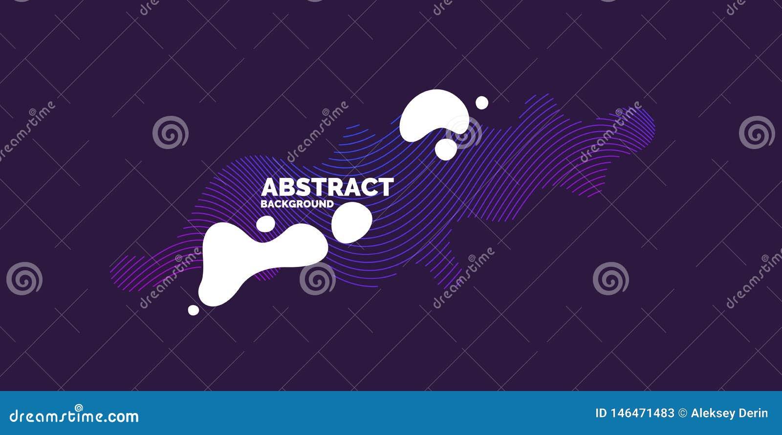 Atletische affiche Trendy abstracte achtergrond Samenstelling van amorfe vormen en lijnen