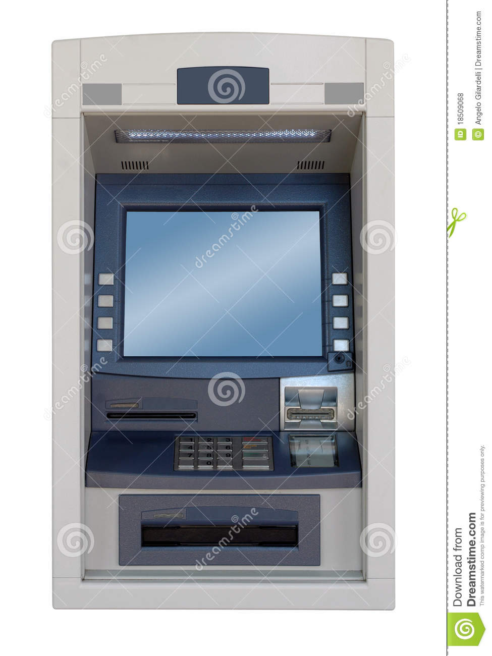 atm machine front view royalty free stock photos image