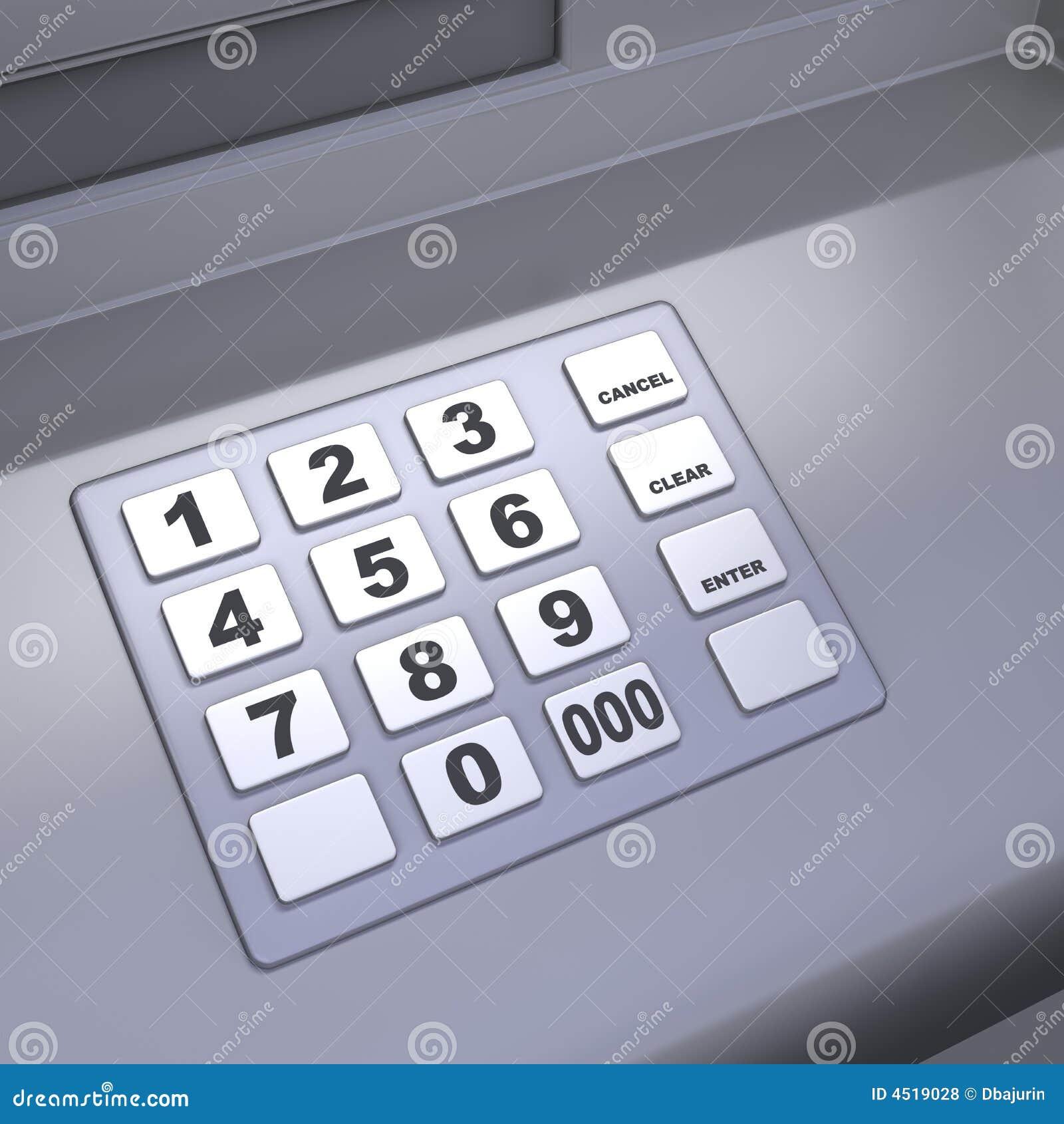 Atm Machine Keyboard Stock Illustration Image Of Grey 4519028